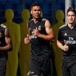 James vuelve a entrenarse con el Real Madrid