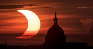 Eclipse solar anular: las impresionantes imágenes del «anillo de fuego» que se vio en el hemisferio norte